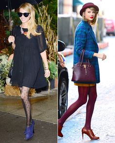 Naked Legs No More! Chic Celebrity Looks That Have Us Saying Yes to Tights