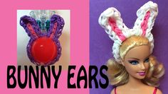 Rainbow Loom Bunny Ears for Easter Eggs and Dolls tutorial by Made By Mommy.