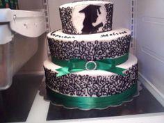 Graduation cake with Silhouette