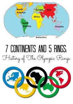 Story of the Olympic Rings with Free Printable Why are there 5 rings of the Olympic Games? Explore the continents of Olympic Games with FREE PrintableWhy are there 5 rings of the Olympic Games? Explore the continents of Olympic Games with FREE Printable Kids Olympics, Rio Olympics 2016, Winter Olympics, Summer Olympics Sports, Olympic Idea, Olympic Sports, Olympic Games For Kids, Olympic Gymnastics, Time Do Brasil