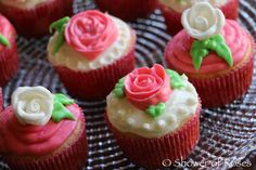 Rose Cupcakes for St. Thérèse