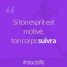 •Si ton esprit est motivé, ton corps suivra •(sur Pinterest) • #citation #realite • motive vous pour Halloween