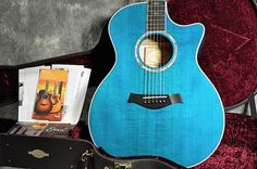 Always wanted to learn to play that Epihone Acoustic Guitar so I could justify upgrading to a Blue Taylor 614ce Flamed Maple.  I didn't, but would still love to own one.