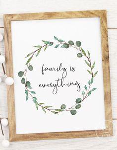 *Freebie* Pretty Family Decor Printables - little blonde mom Free Printable Art, Free Printables, Minimalist Centerpiece, Family Wall Art, Floral Printables, Farmhouse Wall Decor, Flyer, Wall Art Quotes, Free Prints