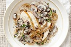 Creamy Chicken and Mushroom Pasta. Prep time: only 30 minutes!