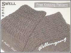 Natas Nest: Swell Socks - Free Pattern / Wellengang-Socken - Gratis-Anleitung