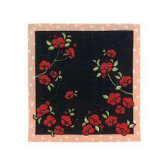 KUROCHIKU Hybrid Handkerchief Towel – Camellia, Black
