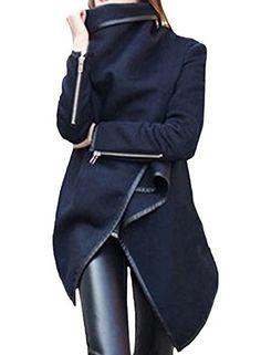 Azbro Women's Turtleneck Irregular Trench Coat with Zip S... https://www.amazon.de/dp/B01AHPZD36/ref=cm_sw_r_pi_dp_x_0HC7xb2D9WH3D