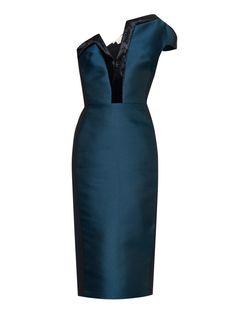 One-shoulder contrast-trim dress | Antonio Berardi | MATCHESFASHION.COM US