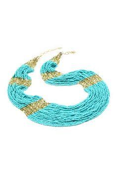 Boho Beaded Necklace by Amrita Singh $24 on @HauteLook