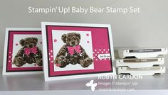 My Pink Stamper: Stampin' Up! Baby Bear Watercolor Card! - Episode 494 (Tuesday VIDEO Tutorial!)