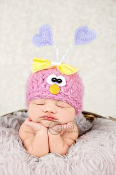 Love Bug Crochet Hat.