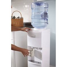 Top Loading Hot/Cold Water Cooler Dispenser 5 Gallon Top Load Electric Home 713440562372 Reverse Osmosis Process, 5 Gallon Water Bottle, Hot Cold Packs, Water Solutions, Water Coolers, Energy Saver, Water Dispenser, Heating And Cooling, White Houses