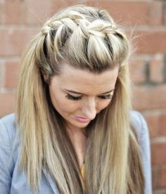 Long Blonde French Braid Hairstyle 2016-2017