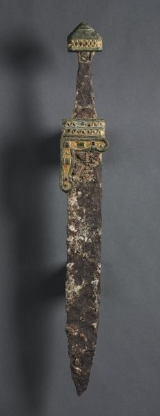 Single-Edged Knife (Scramasax), c. 500-700 Merovingian, Migration period, 6th-7th Century