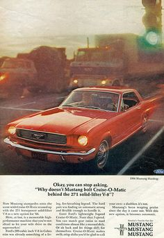 1966 Ford Mustang Coupe 289 Hipo This is just like the one I had. :-(