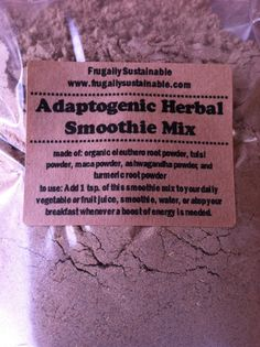Adaptogenic Herbal Smoothie Mix by FrugallySustainable on Etsy, $15.00