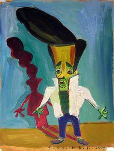 """""""Roquero 2"""",gouache sobre papel, 24x 18 cm., year 1998"""