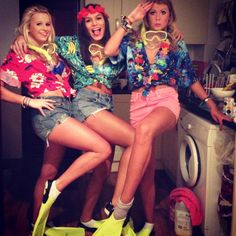 The Beach Party theme costume idea