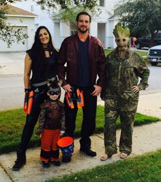Guardians of the Galaxy #marvel #GotG Halloween inspired family costumes