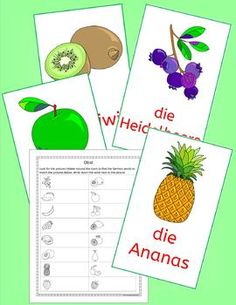 German Fruit - Obst - fun activities, puzzles and games