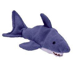 CRUNCH the shark - TY Beanie Baby Mint   Retired 88b765f586b5