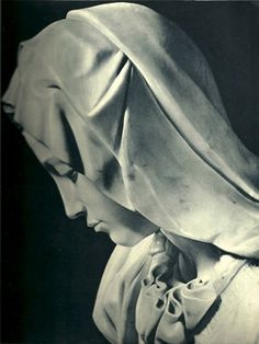 close-up of Mary, Michelangelo's Pietà