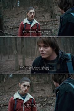 The King of Sass (Jonathan Byers and Nancy Wheeler in Stranger Things)