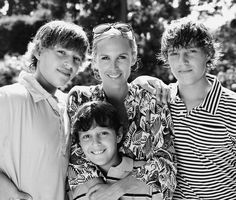 Tory with her boys, photographed by Barbara Vaughn.