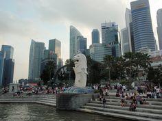 Parque del Merlión en Marina Bay Singaur.