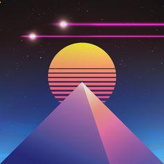 Neon Noir, Technology Wallpaper, Retro Waves, Retro Wallpaper, Vaporwave, Optical Illusions, Chill, Original Art, Artwork Ideas
