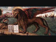 The Lion of St Mark 1516 Tempera on canvas Palazzo Ducale, Venice - Vittore Carpaccio Andrea Mantegna, Joe Colombo, Venice Painting, Painting Art, Paintings, Saints, Fierce Animals, Religion, Christian Art