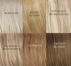 Different Shades of Blonde Hair Chart