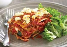 Lasagne met pesto en geitenkaas