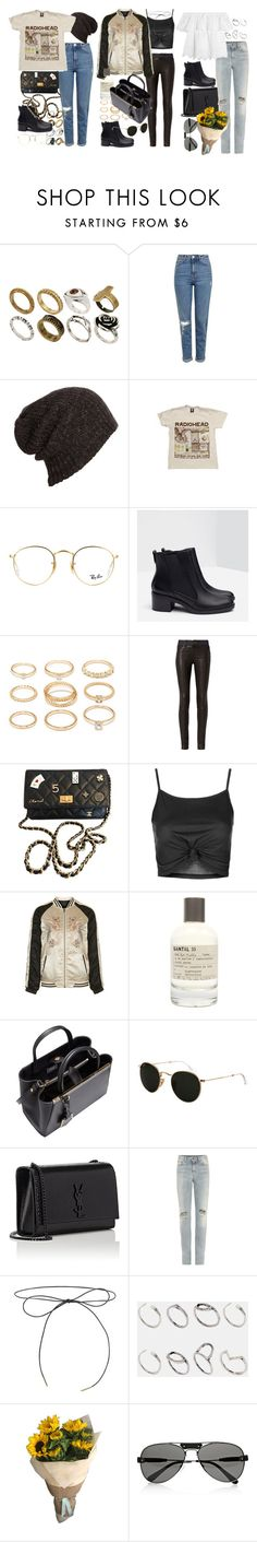 """""""How to style elasticated high heel ankle boots"""" by nikka-phillips ❤ liked on Polyvore featuring ASOS, Topshop, AllSaints, Ray-Ban, Zara, Forever 21, rag & bone, Chanel, Le Labo and Fendi"""