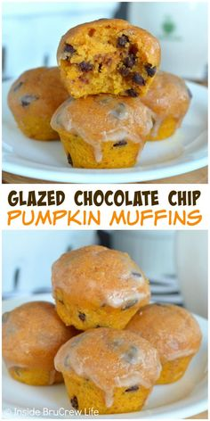Adding a glaze and chocolate chips makes these mini pumpkin muffins ...