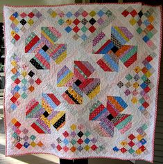 Jelly Roll Posies Baby Quilt Pattern