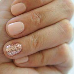 Nails for prom... I love short nails and a nude nail polish