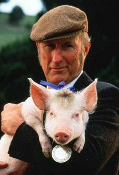"""""""That'll do, pig."""" * In the 1995 talking pig film Babe, Farmer Hoggett speaks this line of praise to the titular pig."""