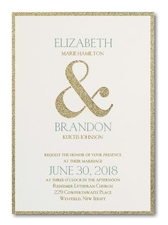 Shine Through Wedding Invitation