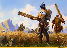 warhammer 40000,tau empire,fire warriors,denewer's art,песочница,фэндомы,Fire warrior