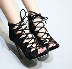 Hollow Out Sexy Belt Sandal(Size:35-40)_Sandal_WHOLESALE SHOES_Wholesale clothing, Wholesale Clothes Online From China