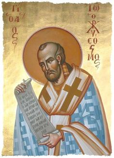 John Chrysostom-Doctor of the Church, Greek Father of the Church, bishop of Constantinople, esteemed theologian Religious Images, Religious Icons, John Chrysostom, Byzantine Icons, Catholic Saints, Egyptian, Statue, Artwork, Spiritism