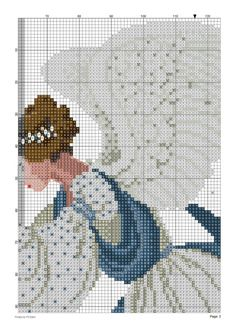 ice angel (lavender and lace) Cross Stitch Angels, Counted Cross Stitch Patterns, Cross Stitch Charts, Christmas Cross, Christmas Angels, Christmas Tree, Bonnet Pattern, Cross Stitch Landscape, Ancient Egyptian Art
