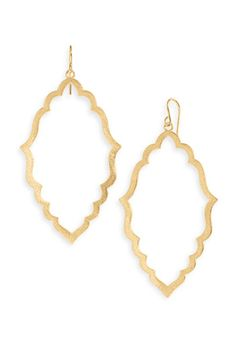 Dogeared moroccan hoop earrings. Delicate.