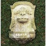 Wall Fountain from Charleston Gardens Outdoor Wall Fountains, Garden Water Fountains, Outdoor Walls, Outdoor Living, Solar Fountains, Tabletop Fountain, Indoor Fountain, Fountain Ideas, Feng Shui
