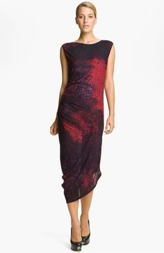 Halston Heritage Abstract Print Jersey Dress available at #Nordstrom