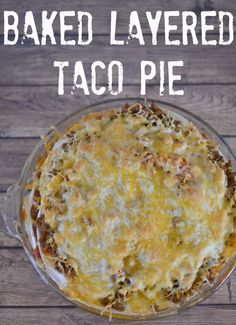 Easy Taco Casserole #Recipe.  One Dish Meals.  Taco Casserole.  Tortilla Casserole recipe.  Family Friendly Dinners.  Dinnertime