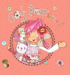 Emily Button goes to a party. Emily Button is a real live rag doll who, with her friends Bobble & Mousey the Mouse, has many adventures solving problems along the way