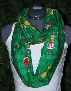 Dr.Suess The Grinch Christmas Infinity Scarf by StyleGypsies, $24.00